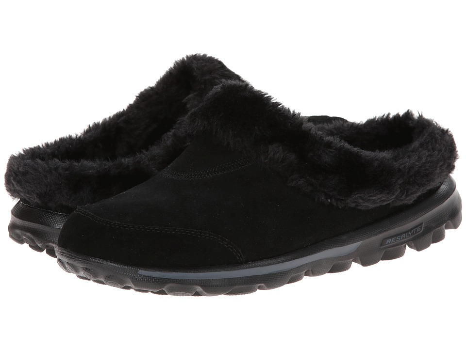 SKECHERS Performance - Go Walk (Black) Women's Slip on Shoes