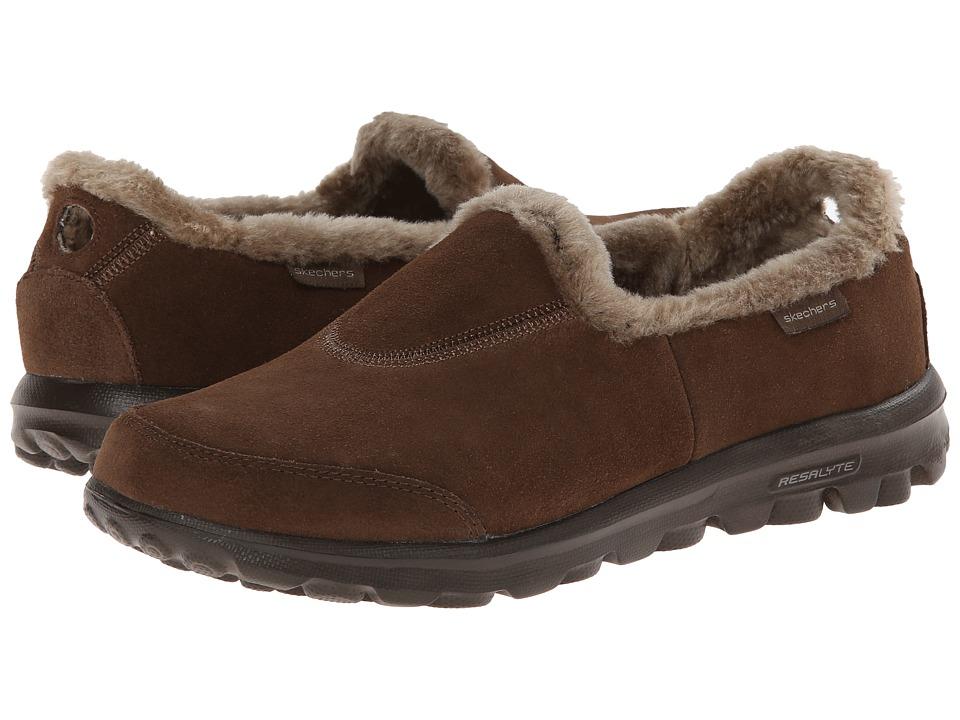 SKECHERS Performance - Go Walk (Chocolate) Women's Slip on Shoes