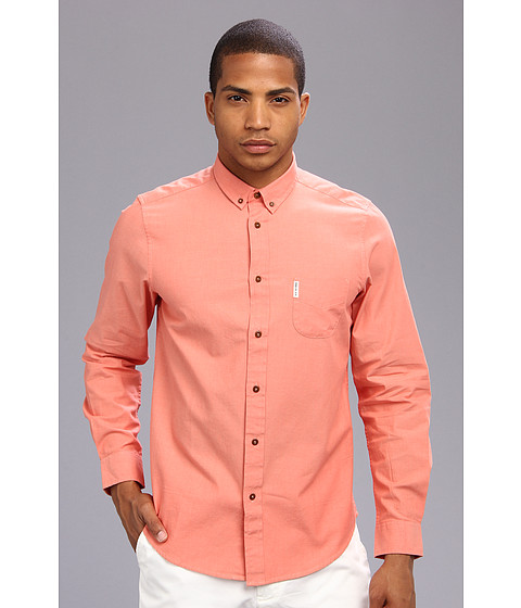 Ben Sherman - L/S Chambray Shirt (Firecracker) Men's Clothing