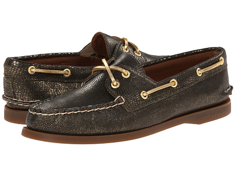 Sperry Top-Sider - A/O 2 Eye (Dark Gold Mini Foil Exotic) Women's Lace up casual Shoes