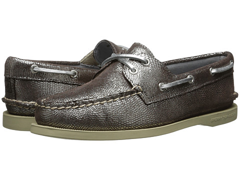 Sperry Top-Sider - A/O 2 Eye (Silver Mini Foil Exotic) Women