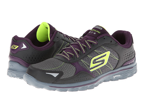 SKECHERS Performance - Go Walk 2 - Extreme (Charcoal/Purple) Women's Shoes