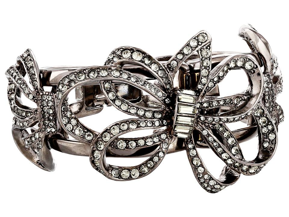 Oscar de la Renta - Pave Flower Bracelet (Black Diamond) Bracelet