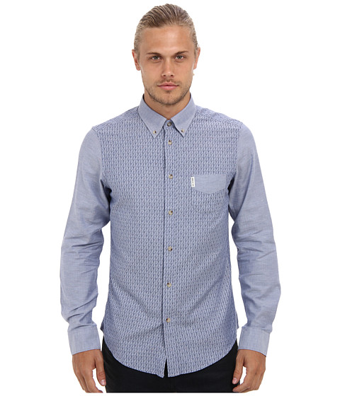 Ben Sherman - Mix N Match (Turkish Sea) Men's Long Sleeve Button Up