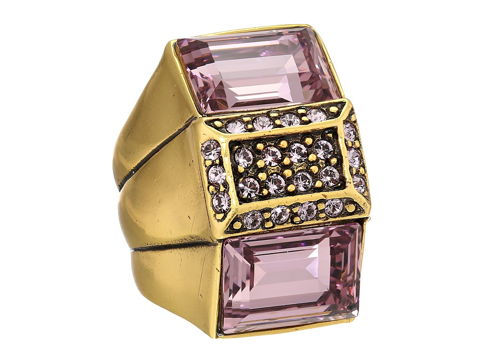 Oscar de la Renta - Crystal Baguette Ring (Lilac) Ring