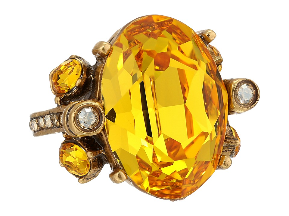 Oscar de la Renta - Large Jewel Ring (Saffron) Ring