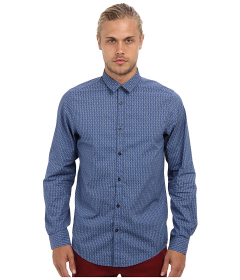 Ben Sherman - Rope Print (Washed Blue) Men