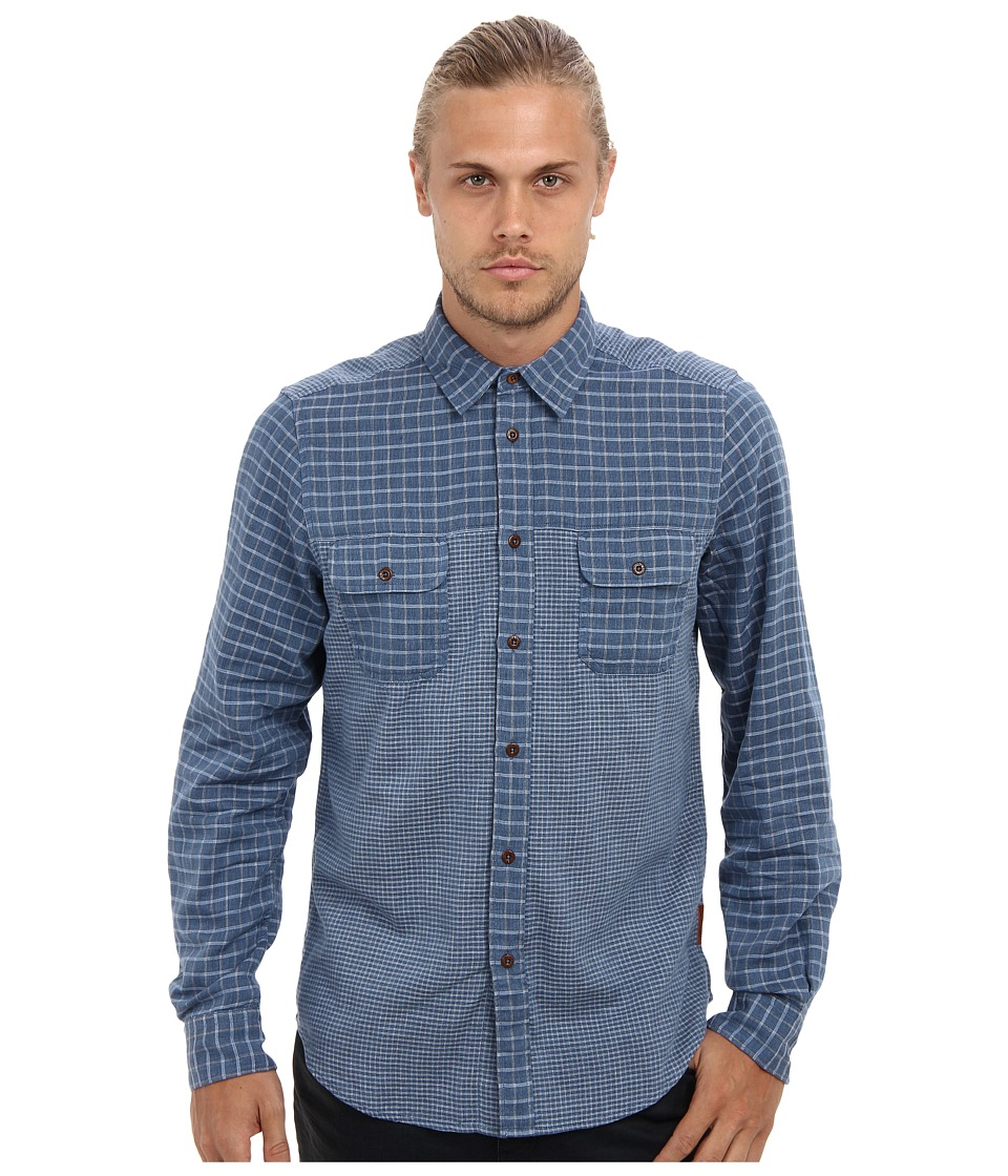 Ben Sherman - Mix N Match Double (Medieval Blue) Men's Long Sleeve Button Up