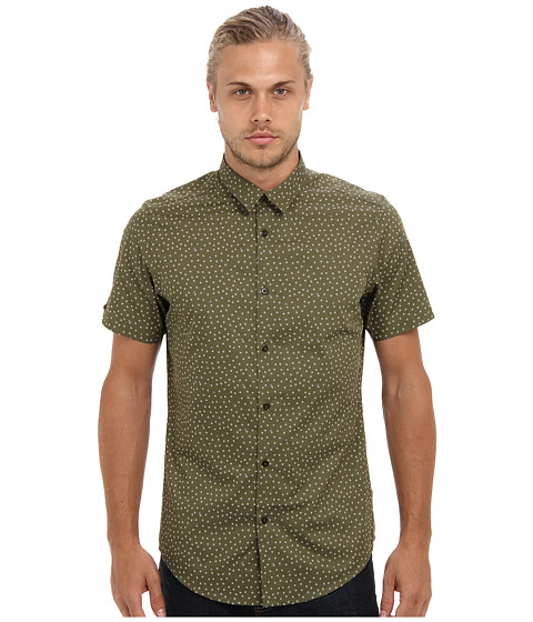 Ben Sherman - S/S Geo Print (Four Leaf CL) Men's Short Sleeve Button Up