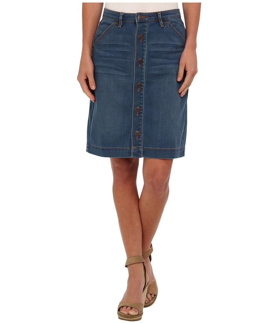 Dittos - Emma Button Front Skirt (70s Blue) Women