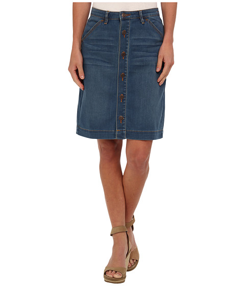 Dittos - Emma Button Front Skirt (70s Blue) Women's Skirt