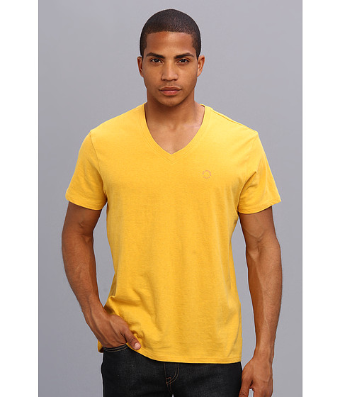 Ben Sherman - Short Sleeve V-Neck Tee (Lemon Marl) Men