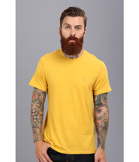 Ben Sherman - Short Sleeve Basic Crew Neck Tee (Lemon Marl) Men's Short Sleeve Pullover