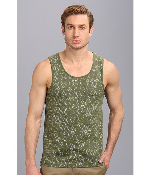 Ben Sherman - Geo Print Tank (Four Leaf CL) Men's Sleeveless