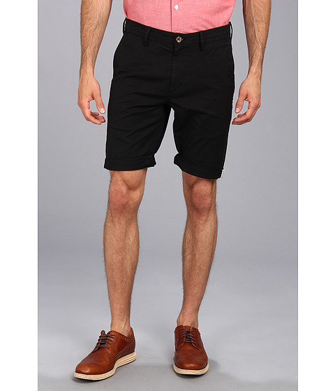 Ben Sherman - Stretch Slim Short (Jet Black) Men's Shorts
