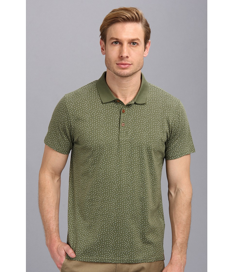 Ben Sherman - Geo Print Polo (Four Leaf CL) Men