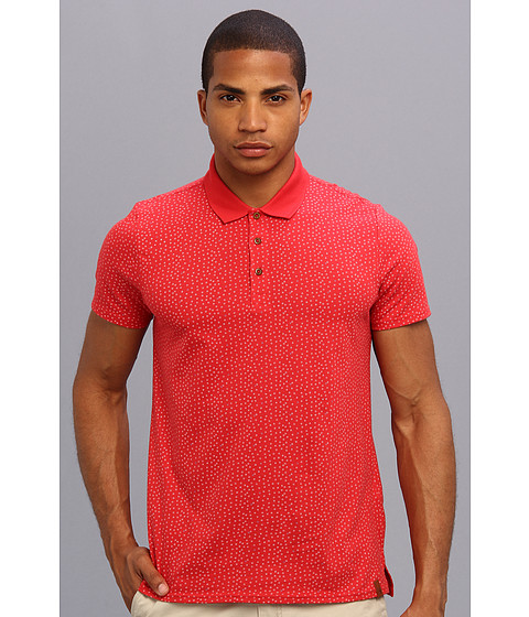 Ben Sherman - Geo Print Polo (Ribbon Red) Men's Short Sleeve Knit