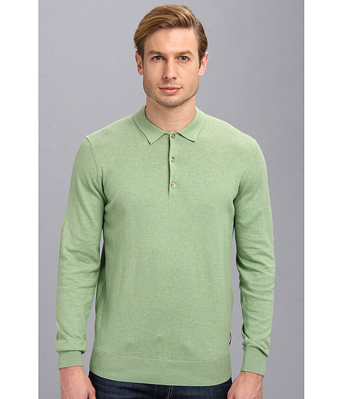 Ben Sherman - Long Sleeve Polo (Pea Green Marl) Men's Long Sleeve Pullover