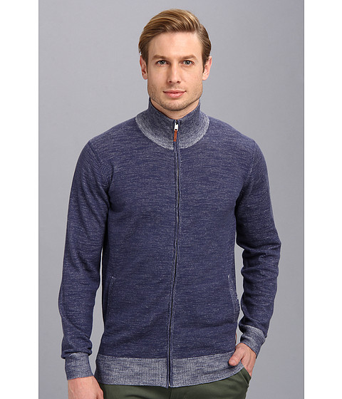 Ben Sherman - Zip Through Cardigan (Blue Depths) Men's Sweater