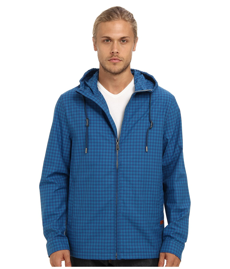 Ben Sherman - Gingham Cotton (Poseidon) Men's Coat