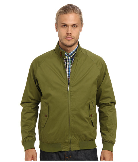 Ben Sherman - Cotton Harringbone (Pesto) Men's Coat