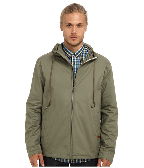 Ben Sherman - Hooded Zip Through (Deep Lichien) Men