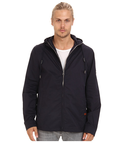 Ben Sherman - Hooded Zip Through (Strapless Navy) Men's Coat