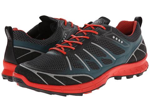 ECCO Sport - Biom Trail Sport (Black/Black/Petrol) Men's Running Shoes