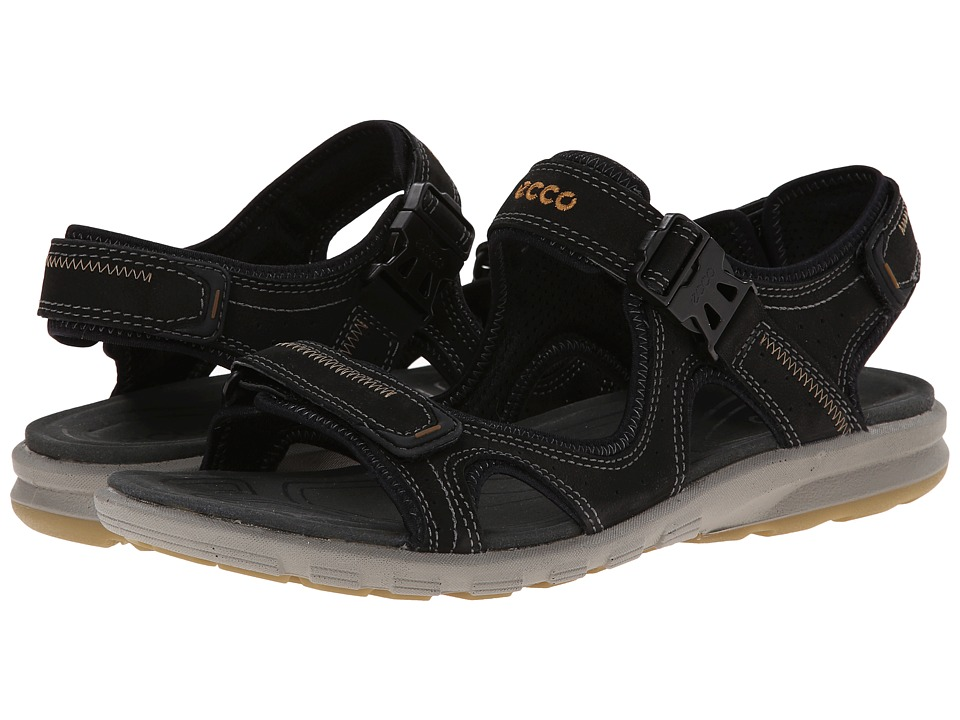 ECCO Sport - Cruise Strap Sandal (Black) Men's Shoes