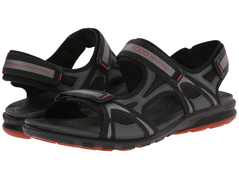 ECCO Sport - Cruise Sport Strap Sandal (Black/Dark Shadow/Picante) Men's Shoes