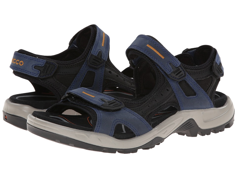 ECCO Sport - Yucatan Sandal (True Navy/Black/Dried Tobacco) Men's Toe Open Shoes