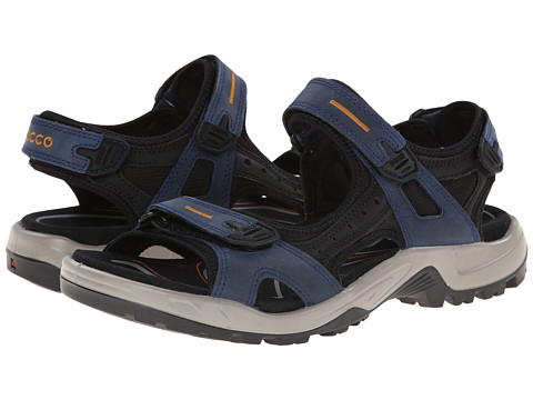 ECCO Sport - Yucatan Sandal (True Navy/Black/Dried Tobacco) Men