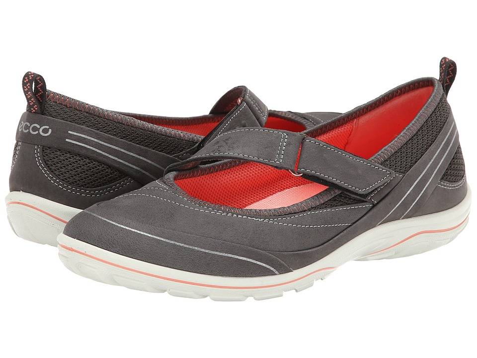 ECCO Sport - Arizona Strap (Dark Shadow/Dark Shadow/Coral) Women's Shoes
