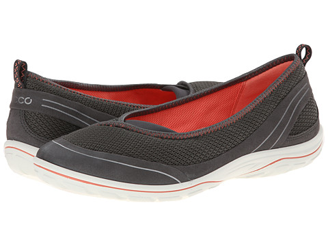 ECCO Sport - Arizona Ballerina (Dark Shadow/Dark Shadow/Coral) Women's Shoes