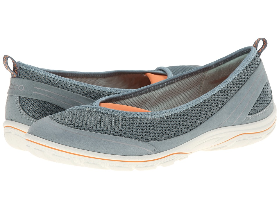 ECCO Sport - Arizona Ballerina (Trooper/Trooper/Papaya) Women