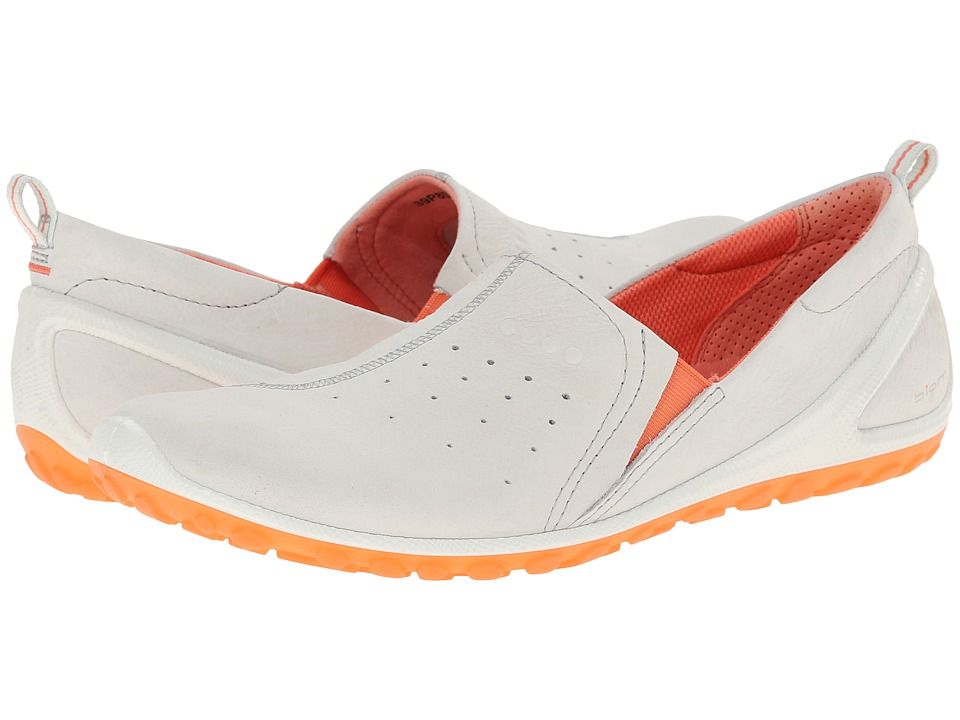 ECCO Sport - Biom Lite Slip On (Shadow White/Coral) Women's Shoes