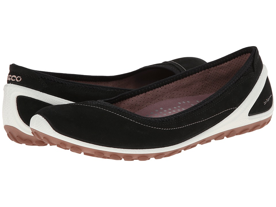 ECCO Sport - Biom Lite 1.2 Flat (Black/Woodrose) Women's Slip on Shoes