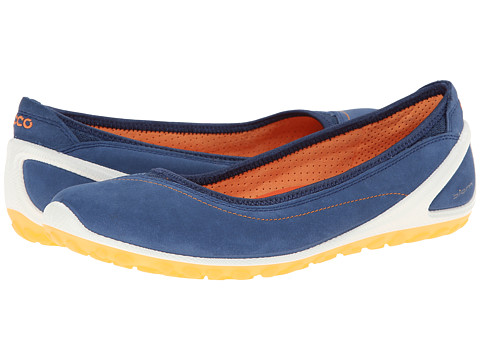 Ecco Performance - Biom Lite 1.2 Flat (True Navy/Papaya) Women's Slip on Shoes