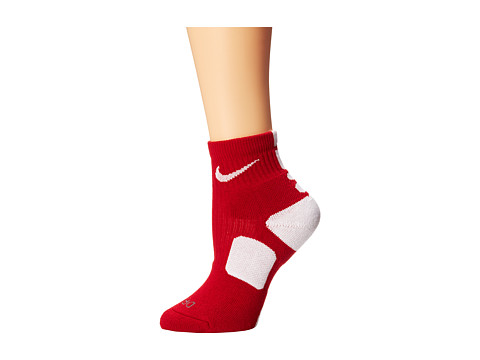 Nike - Elite Basketball HQT (Varsity Red/White/White) Quarter Length Socks Shoes