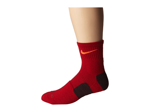 Nike - Elite Basketball HQT (Gym Red/Hyper Crimson/Hyper Crimson) Quarter Length Socks Shoes