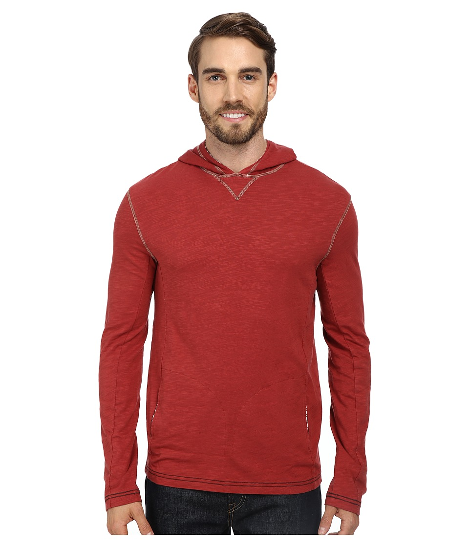 Ecoths - Jameson Hoodie (Brick Red) Men's Sweater