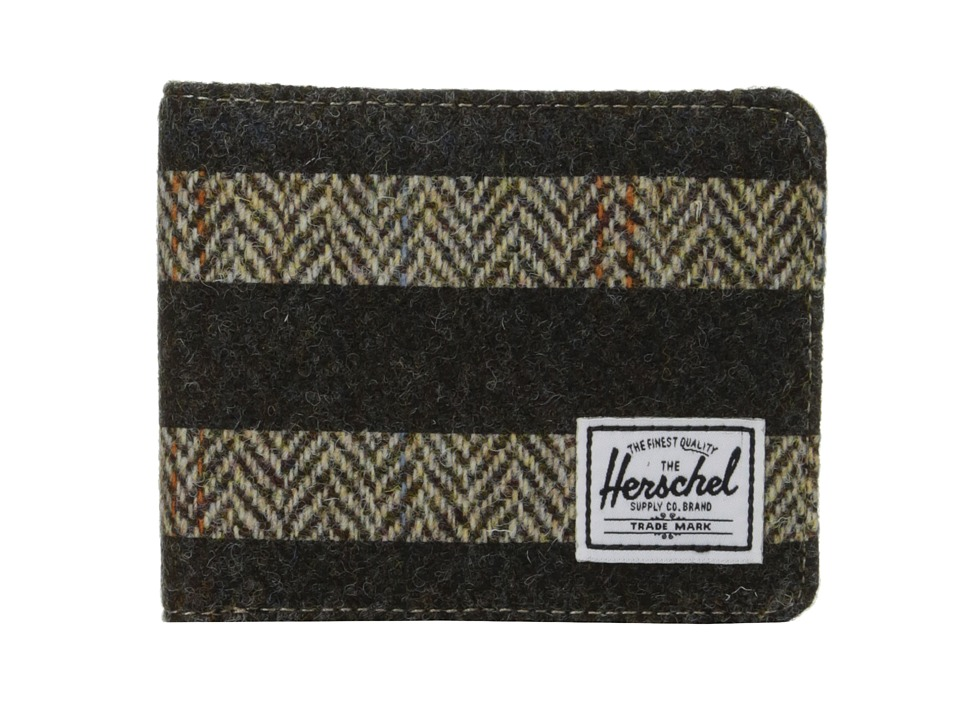 Herschel Supply Co. - Hank (Harris Tweed/Black Stripe Screen Print) Wallet Handbags