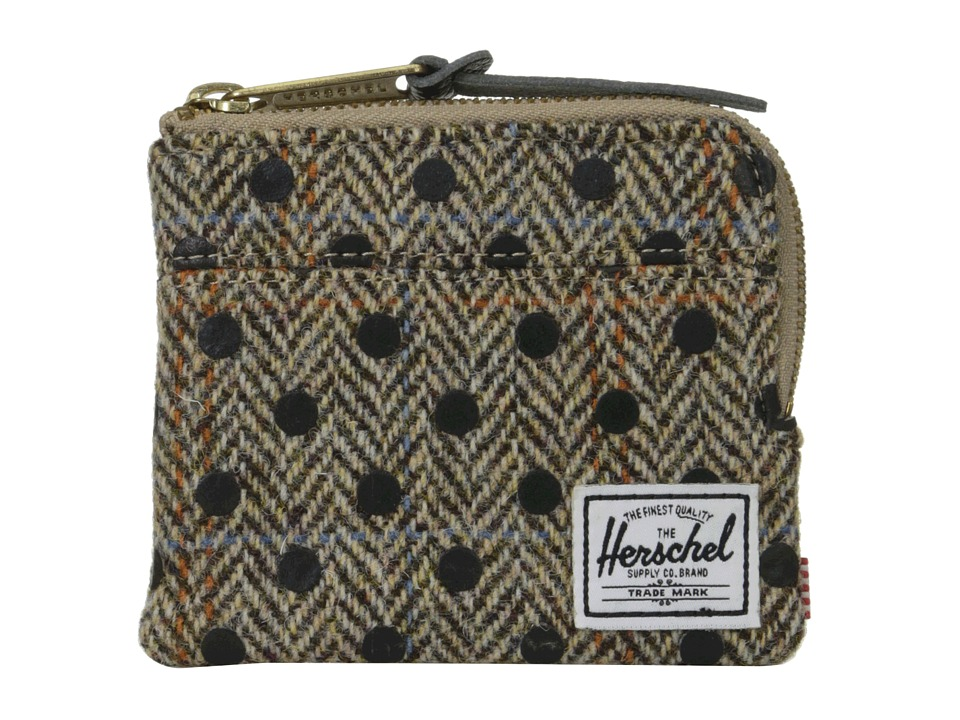Herschel Supply Co. - Johnny (Harris Tweed/Black Stripe Screen Print) Wallet Handbags