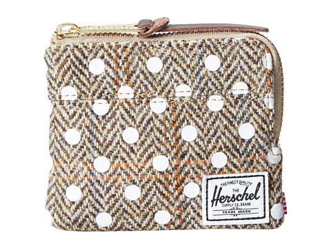 Herschel Supply Co. - Johnny (Harris Tweed/White Screen Print) Wallet Handbags