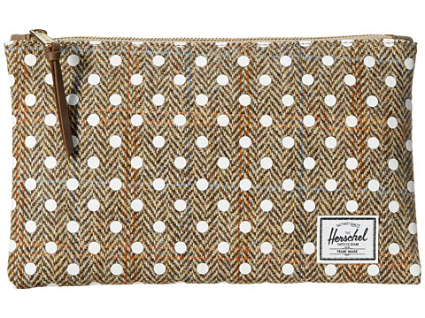 Herschel Supply Co. - Network Pouch Medium (Harris Tweed/White Polka Dot Screen Print) Wallet