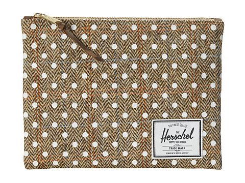 Herschel Supply Co. - Network Pouch Large (Harris Tweed/White Polka Dot Screen Print) Wallet