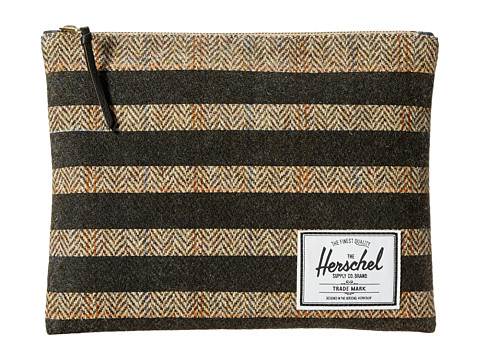 Herschel Supply Co. - Network Pouch Large (Harris Tweed/Black Stripe Screen Print) Wallet