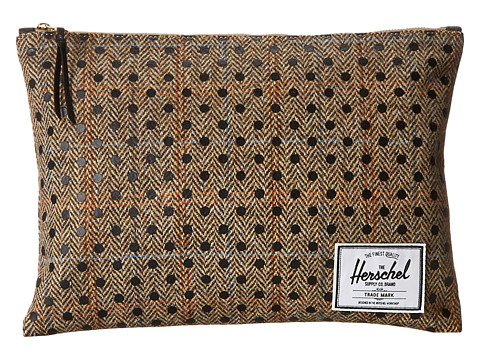 Herschel Supply Co. - Network Pouch Extra Large (Harris Tweed/Black Polka Dot Screen Print) Wallet