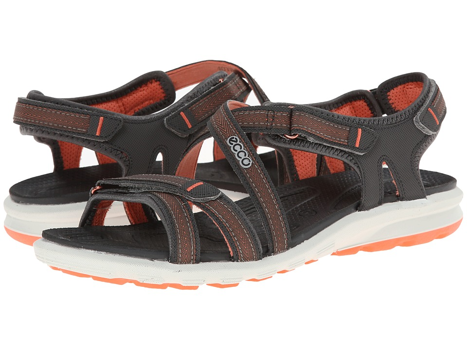 Ecco Performance - Cruise Strap Sandal (Dark Shadow/Coral) Women's Shoes
