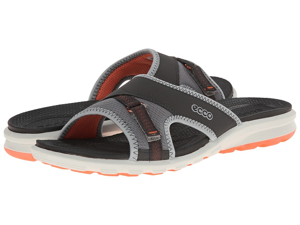 ECCO Sport - Cruise Slide Sandal (Dark Shadow/Wild Dove/Coral) Women's Shoes